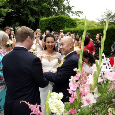 Our wedding in an English village